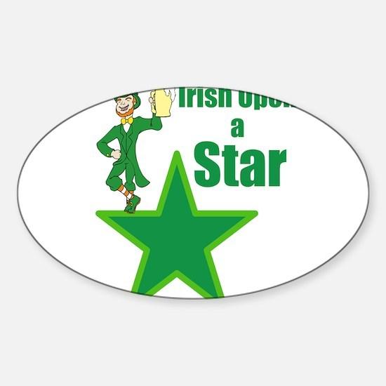 Irish upon a star Sticker (Oval)