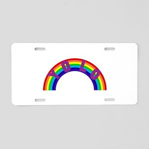 Yolo Rainbow Aluminum License Plate