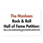 Monkees Rock & Roll Hall of F Postcards (Package o