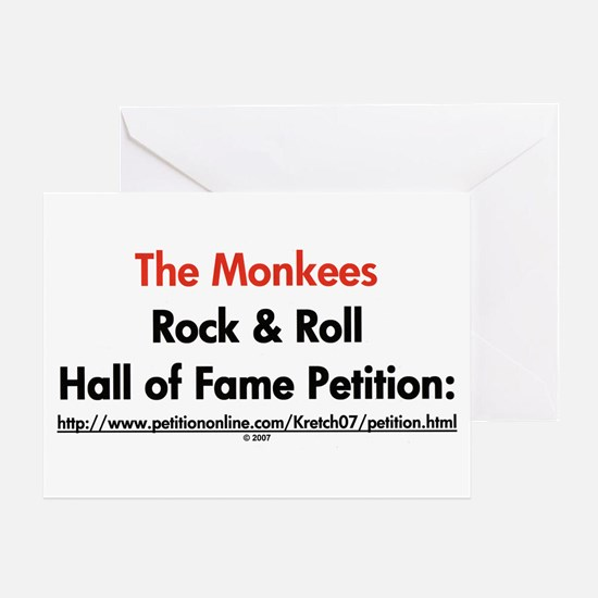 Monkees Rock & Roll Hall of F Greeting Card