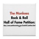 Monkees Rock & Roll Hall of F Tile Coaster