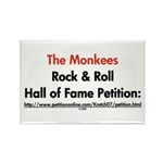 Monkees Rock & Roll Hall of F Rectangle Magnet (10