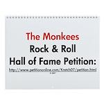 Monkees Rock & Roll Hall of F Wall Calendar