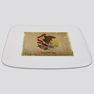 Illinois State Flag VINTAGE Bathmat