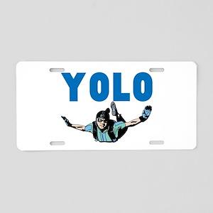 Yolo Sky Diving Aluminum License Plate