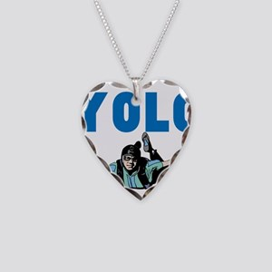 Yolo Sky Diving Necklace Heart Charm