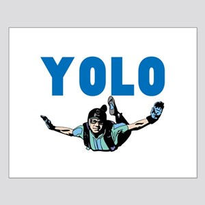Yolo Sky Diving Small Poster