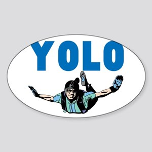 Yolo Sky Diving Sticker (Oval)