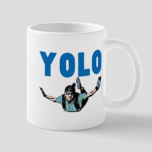 Yolo Sky Diving 11 oz Ceramic Mug