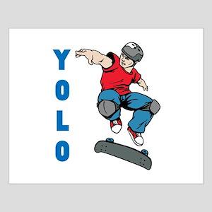 Yolo Skateboarding Small Poster