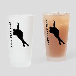 Speed Skater (Custom) Drinking Glass