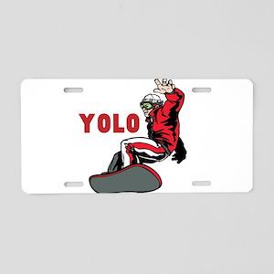 Yolo Snowboarding Aluminum License Plate