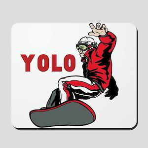 Yolo Snowboarding Mousepad
