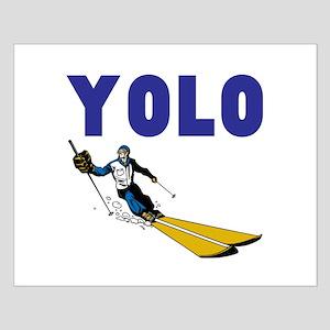 Yolo Skiing Small Poster