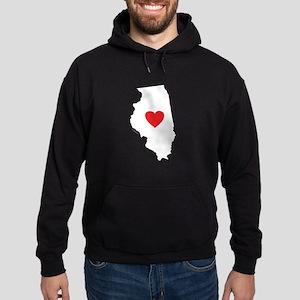 I Love Illinois Hoodie (dark)