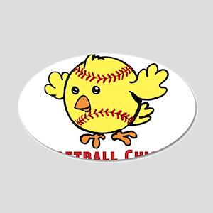 Softball Chick 20x12 Oval Wall Decal