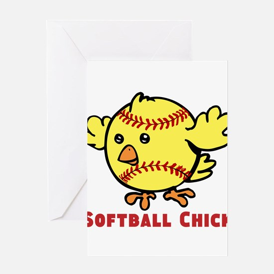 Softball Chick Greeting Card