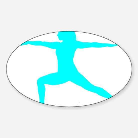 Yoga Warrior Sticker (Oval)