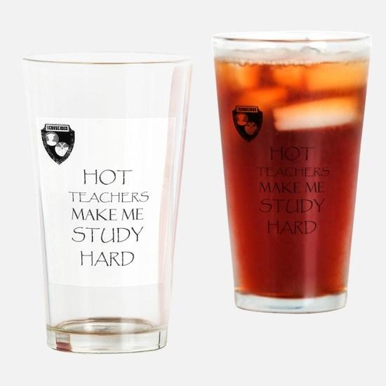 Funny Study hard Drinking Glass