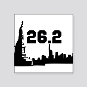 "Marathon 26.2 Square Sticker 3"" x 3"""