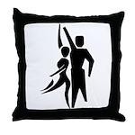 Latin Dancers Throw Pillow