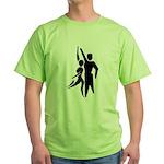 Latin Dancers Green T-Shirt