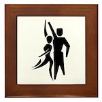 Latin Dancers Framed Tile