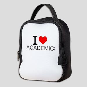 I Love Academics Neoprene Lunch Bag