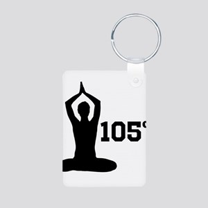 Hot Yoga Aluminum Photo Keychain