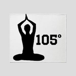 Hot Yoga Throw Blanket