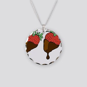 strawberry boobs Necklace Circle Charm