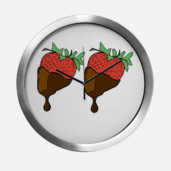 strawberry boobs Modern Wall Clock