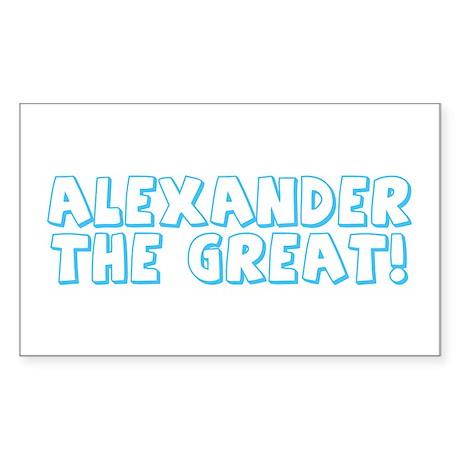 Alexander the Great Rectangle Sticker