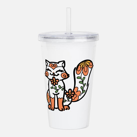 Floral Calico Acrylic Double-wall Tumbler