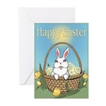 Easter Bunny Cute Pocket Greeting Cards (Pk of 20)