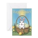 Easter Bunny Cute Pocket Rabbit Greeting Card