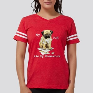 Pug Ate Homework Women's Dark T-Shirt