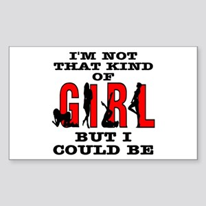Not That Kind Of Girl Rectangle Sticker