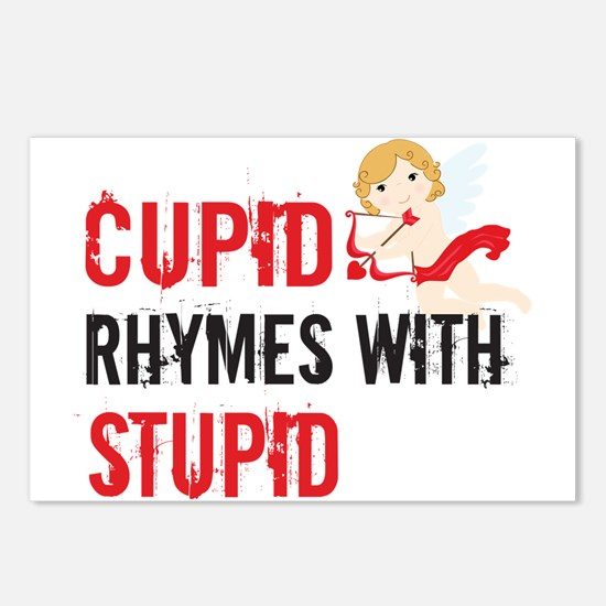 Cupid Rhymes With Stupid Postcards (Package of 8)