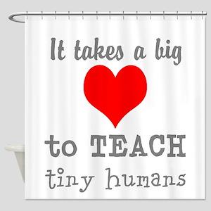 Teacher's Heart Shower Curtain