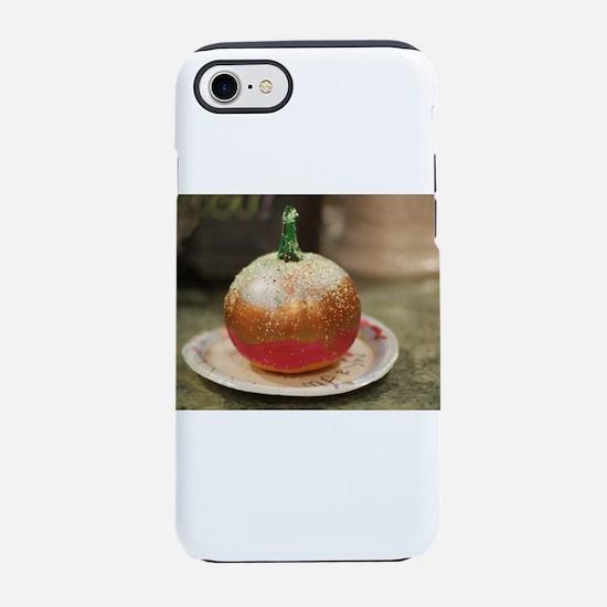 metallic pumpkin painted fai iPhone 8/7 Tough Case