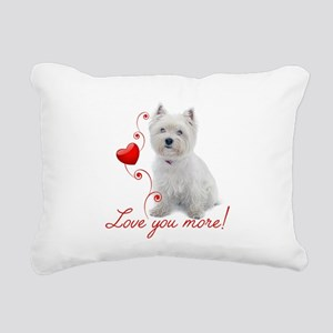 Love You More! Westie Rectangular Canvas Pillow
