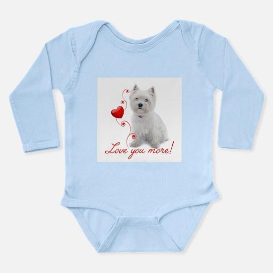 Love You More! Westie Body Suit