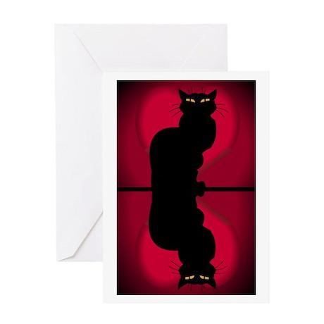 Cat Lover Cute Fat Cat Greeting Card