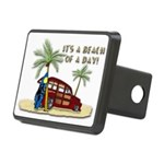 It's A Beach Of Day! Rectangular Hitch Cover