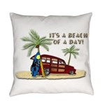 It's A Beach Of A Day! Everyday Pillow