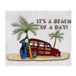 It's a Beach of a Day! Throw Blanket