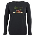 It's a Beach of a Day! Plus Size Long Sleeve Tee