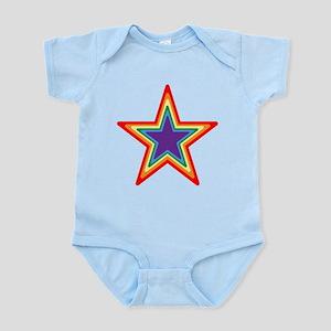 Rainbow Star Baby Light Bodysuit