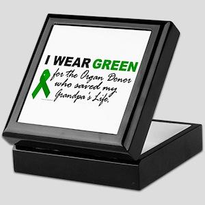 I Wear Green 2 (Saved My Grandpa's Life) Tile Box